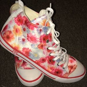 Guess floral high tops size 9 !